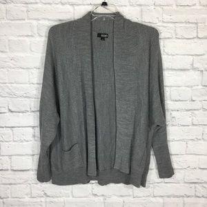 A.N.A. gray dolman sleeve cardigan with pockets 1X